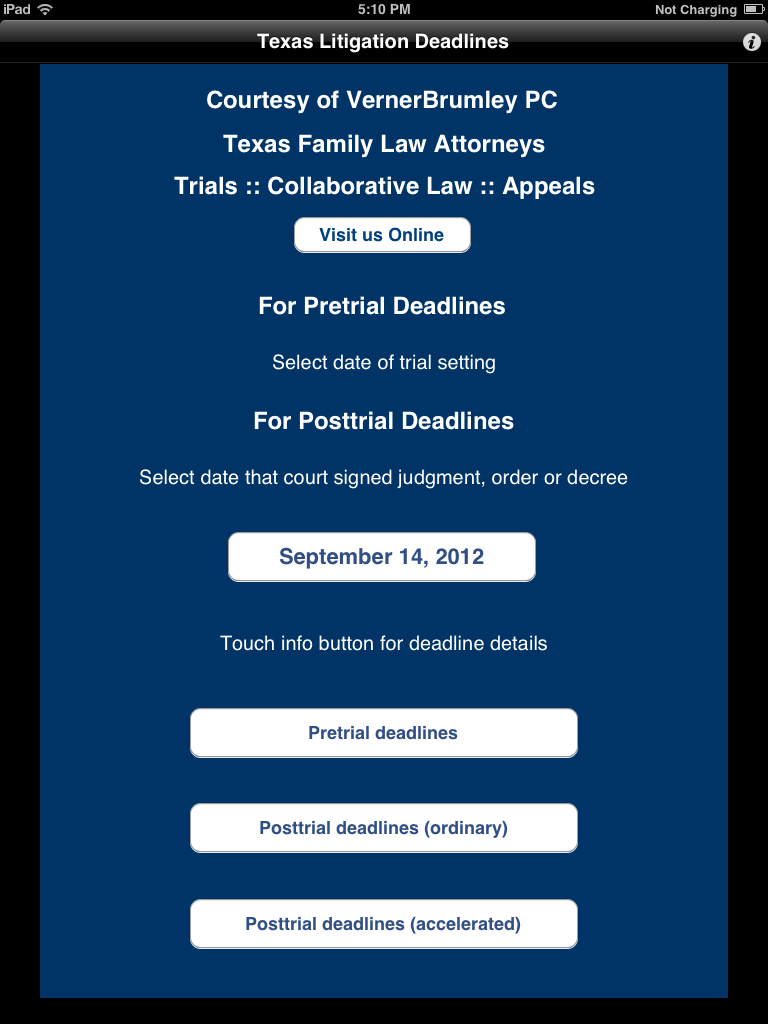 Texas Litigation Deadlines