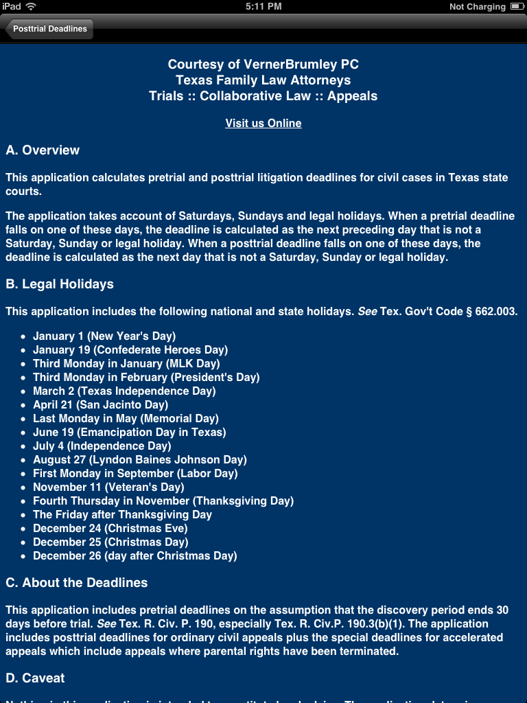 FAQ - Texas Litigation Deadlines